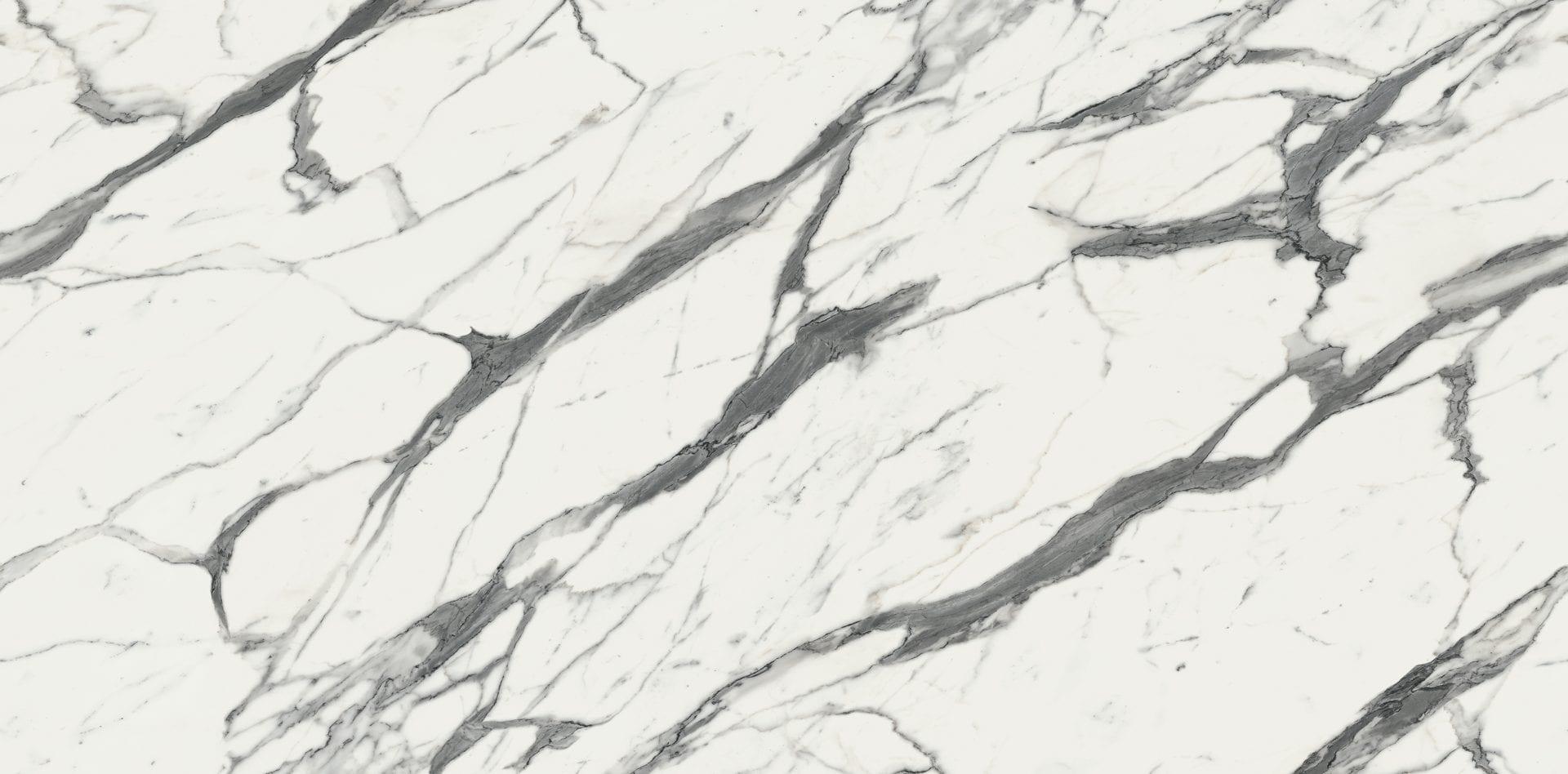 Calcutta Marble Full Length Square Edge Kitchen Worktop