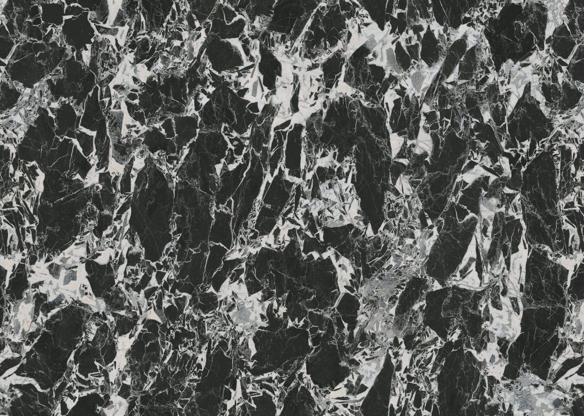 Black Marble Full Sheet Laminate Worktop by Topform